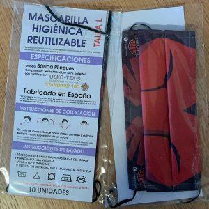 Mascarilla basket Zaragoza